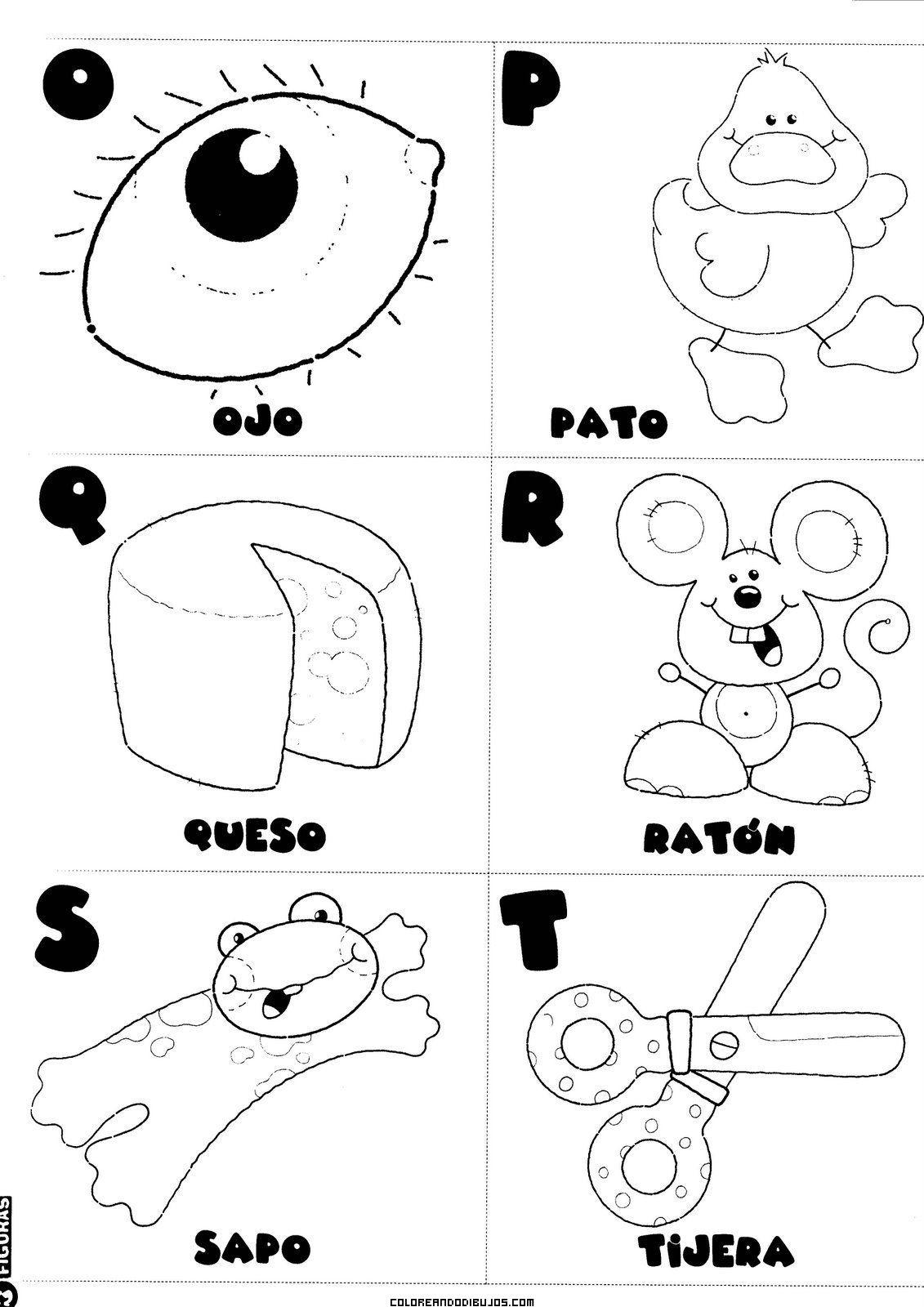 Letras O P Q R S T Para Colorear