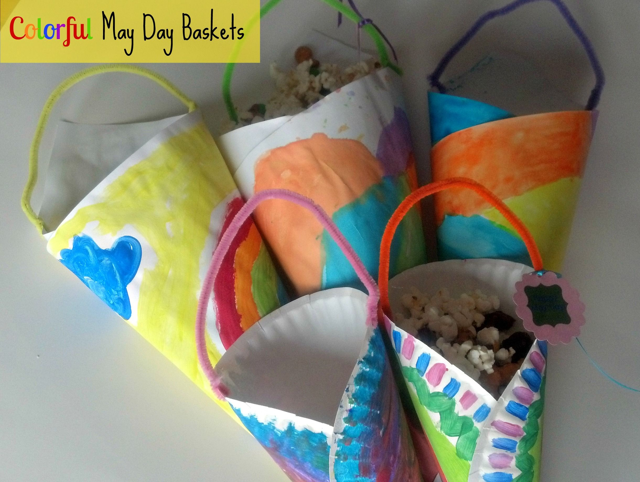 Spring Craft Colorful May Day Baskets From Mom It Forward