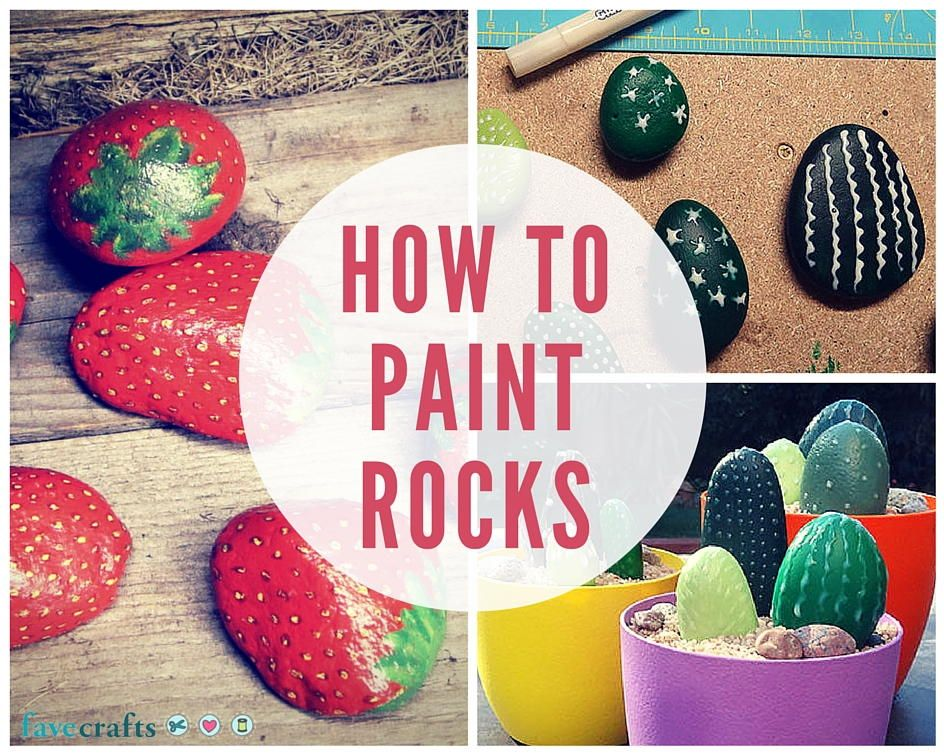 How to paint rocks this summer rock painting rock and
