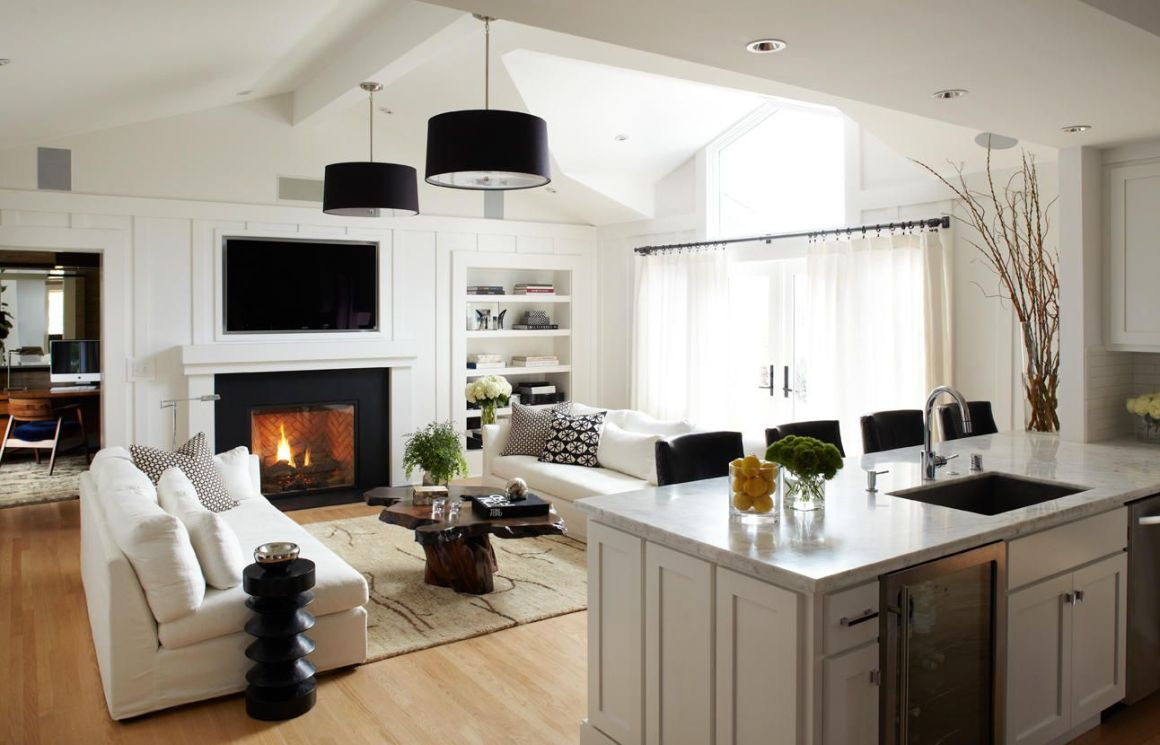 design shuffle blog - a widespread view of the living room shows