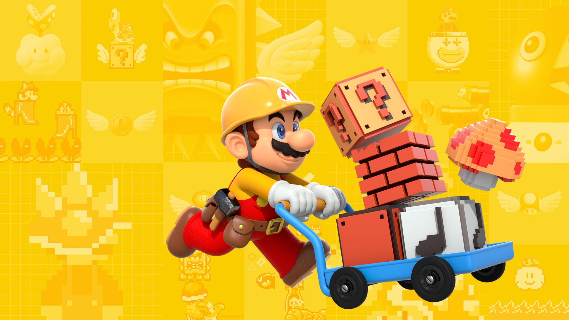 Super Mario Maker wallpaper (1920×1080) Nintendo