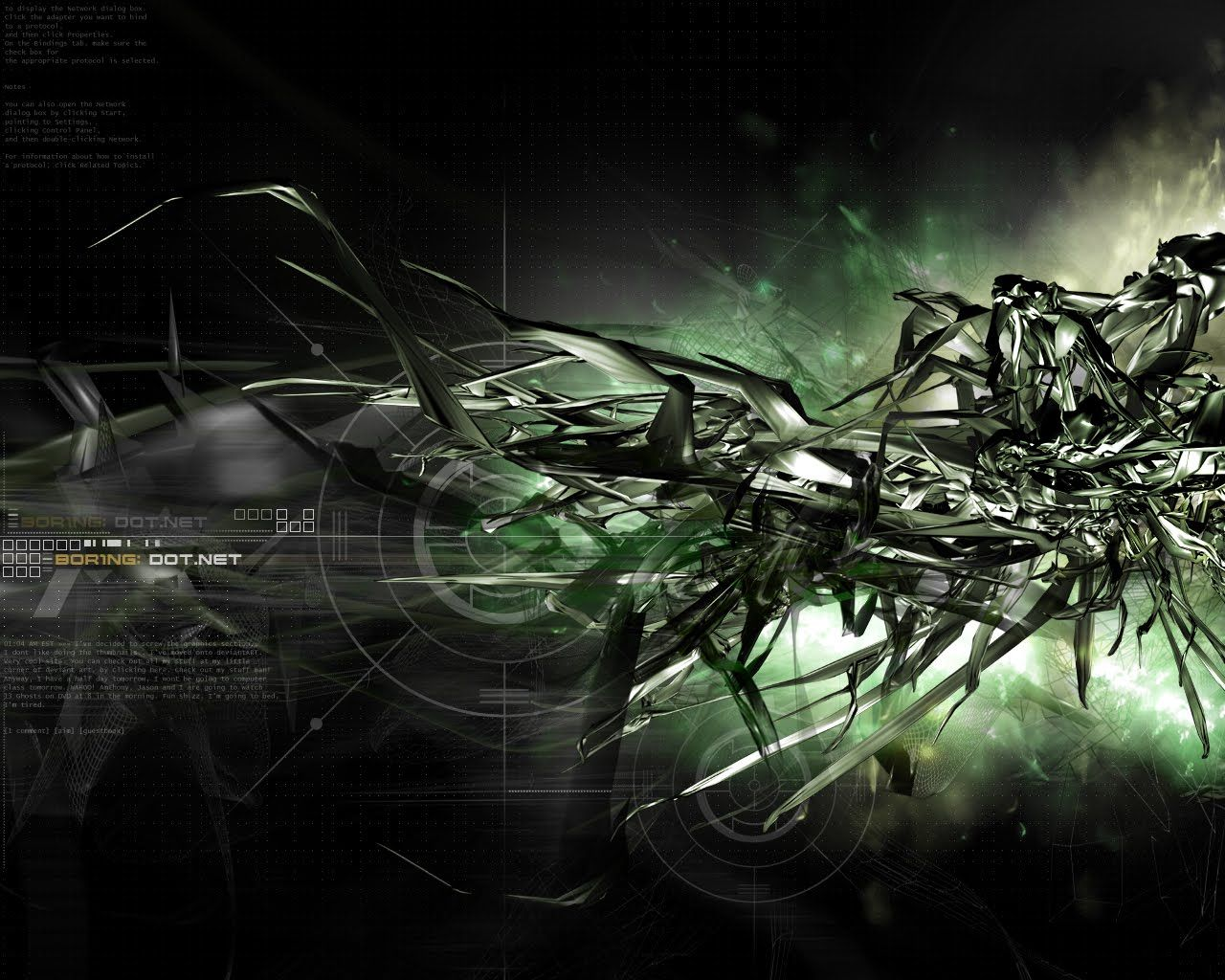 firm black lines like a robot | 3d & abstract wallpapers