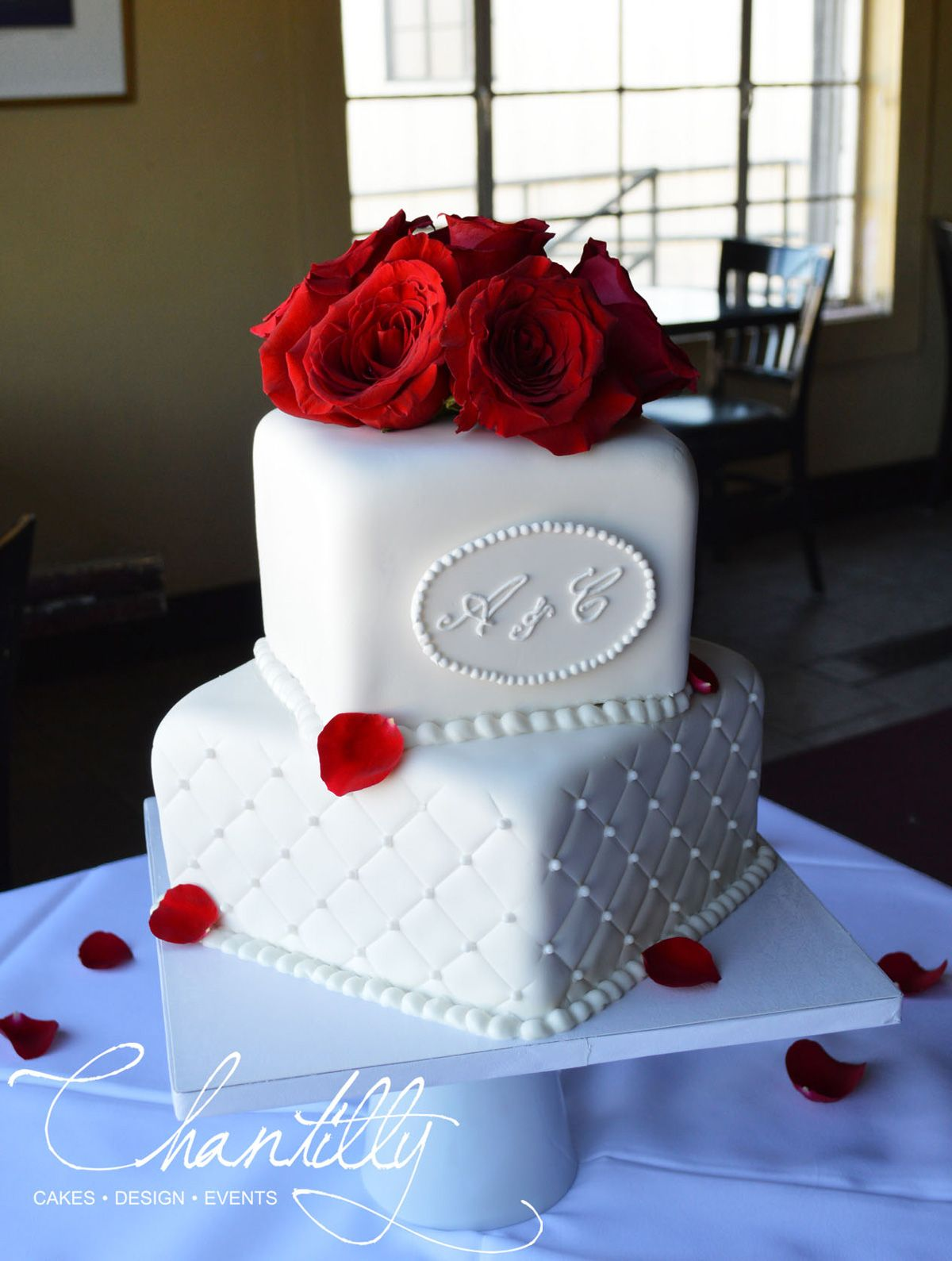 Two Tier Wedding Cake Chantilly Cakes The perfect