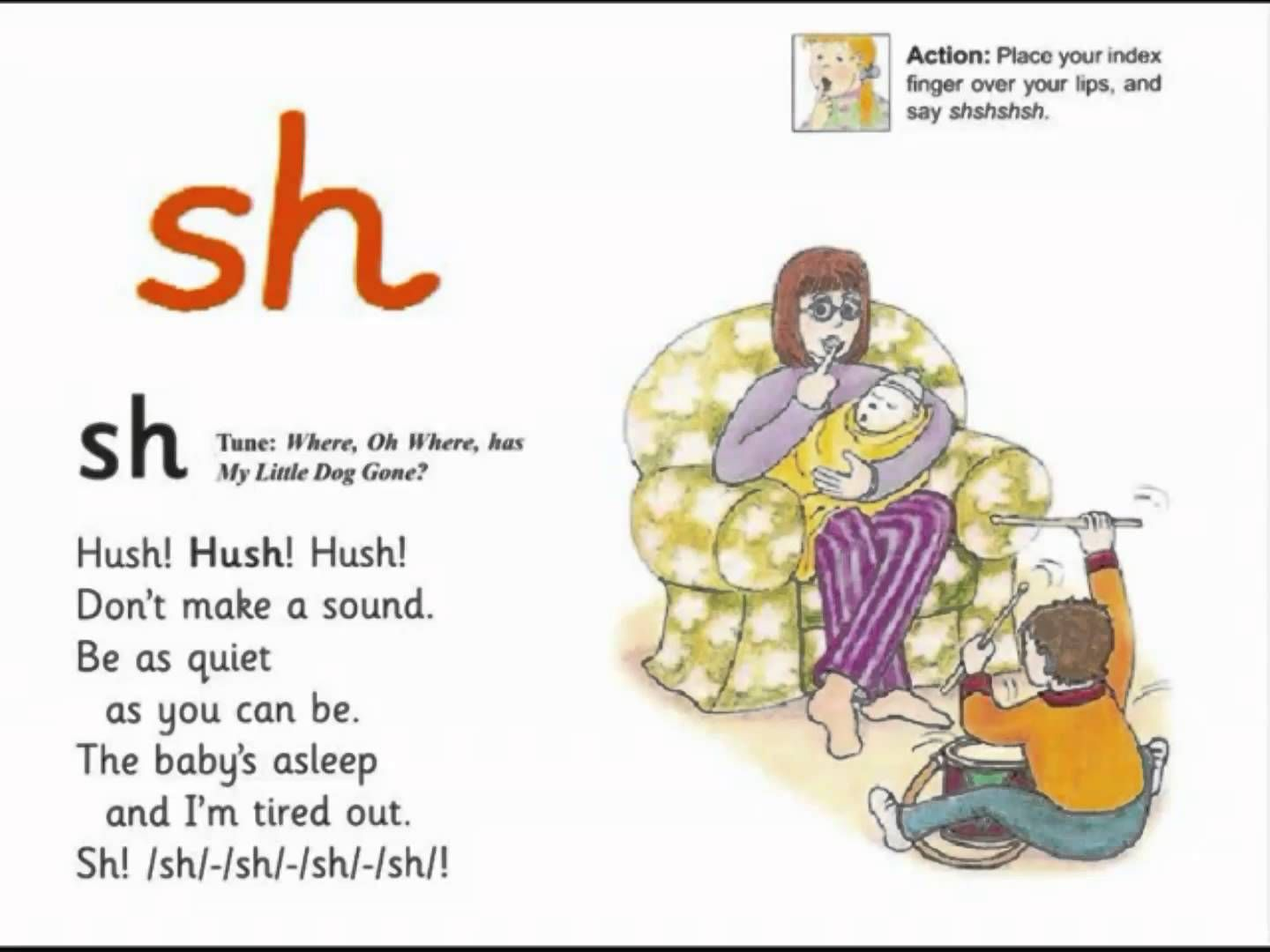 Jolly Phonics Sh Song