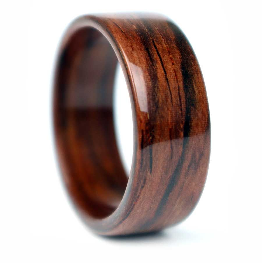 Rosewood Wooden Ring Handmade In Chicago IL Each Ring Is
