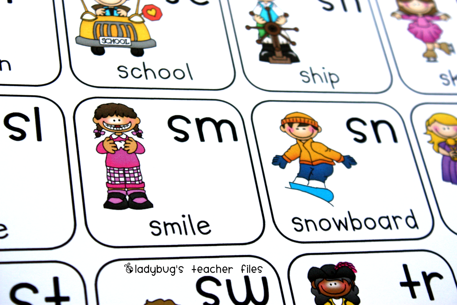 Consonant Blends Chart Printable