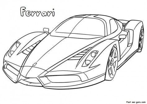 ferrari coloring pages and coloring on pinterest