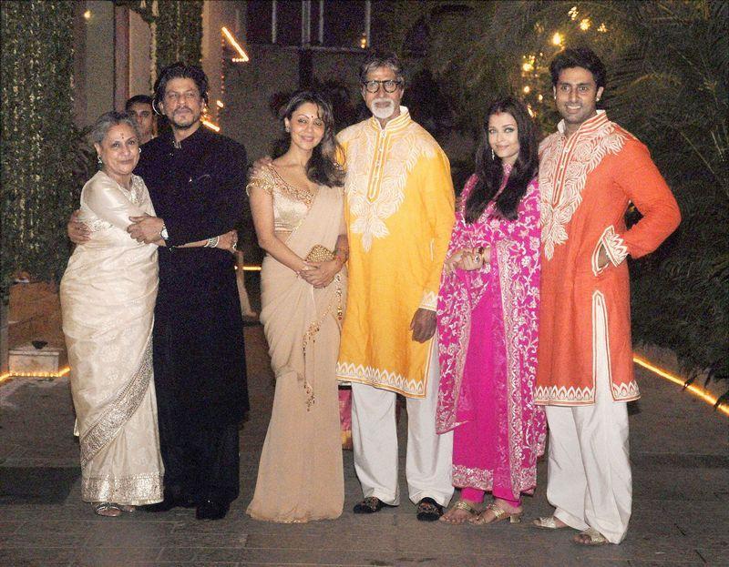 Bollywood stars celebrating Diwali Shahrukh & Gauri Khan