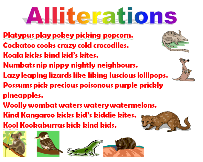 Examples Of Alliteration Poems For Elementary Textpoems
