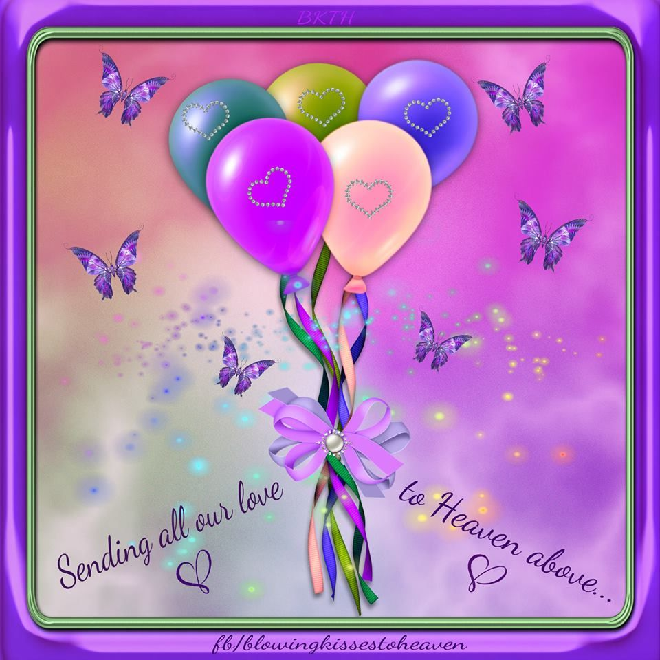 Sending Balloons to Heaven filed with Love to my Angel