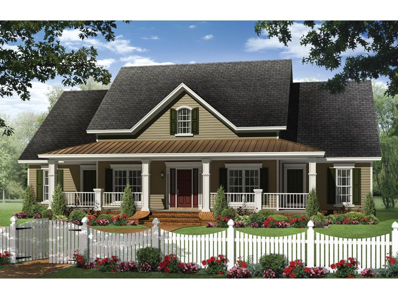 Country House Plan Front Of Home 077D-0191 Hey, A Small