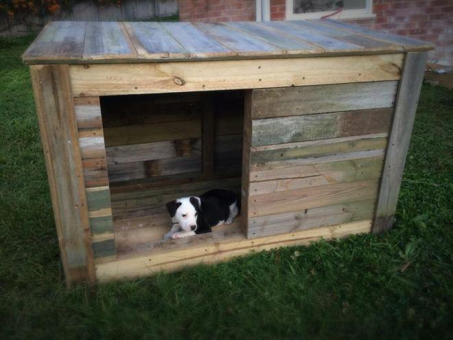 Diy pallet dog house pallets dog houses and pallet dog