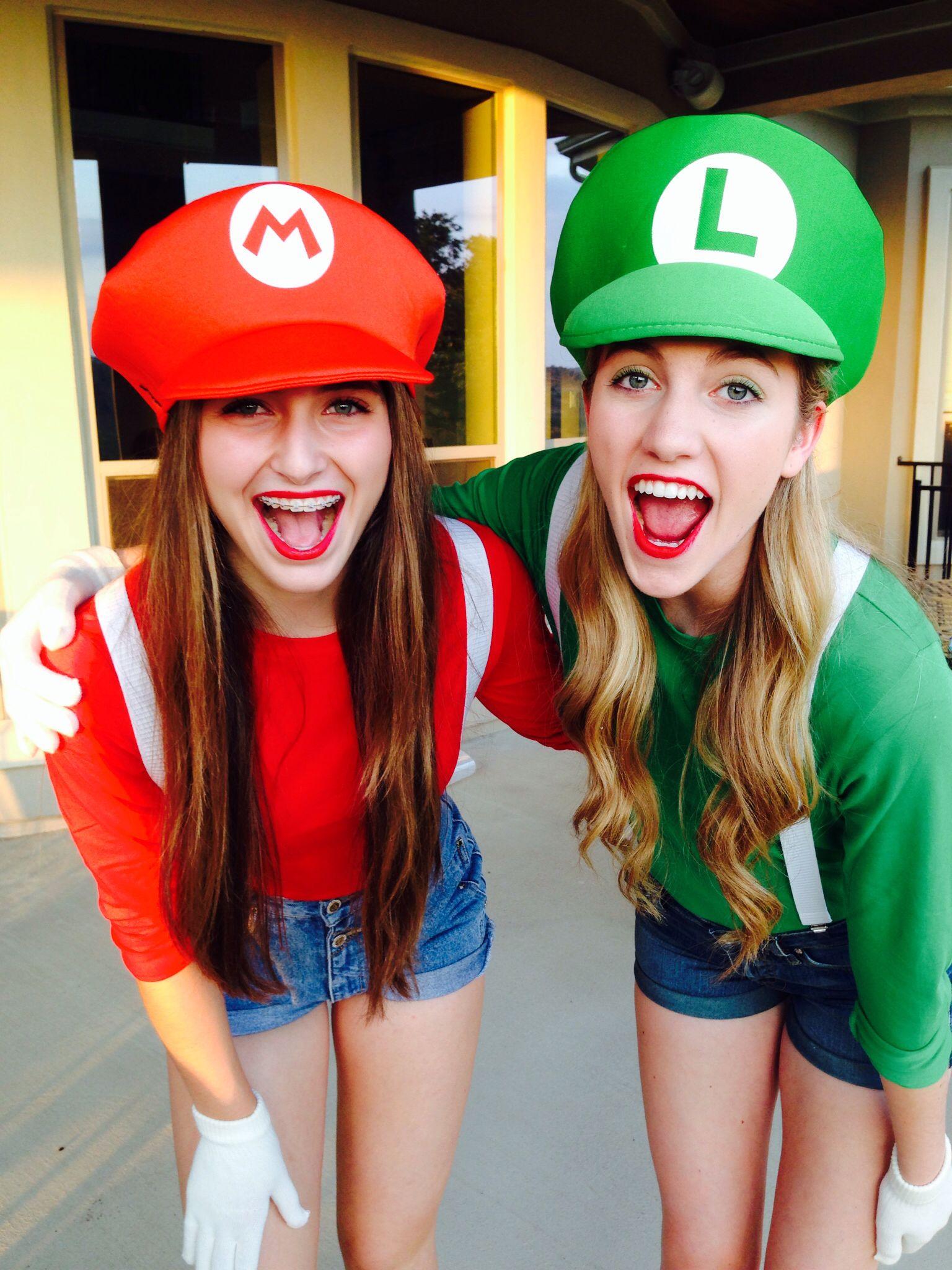 Mario and Luigi Halloween Costumes Super Craftyyyy