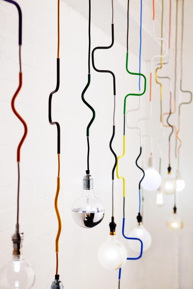 Lighting Cable Jewellery Pendants By Volker Haug Is An Important Element On Interior