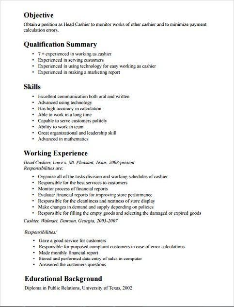 cashier experience resume aboutnursecareersm
