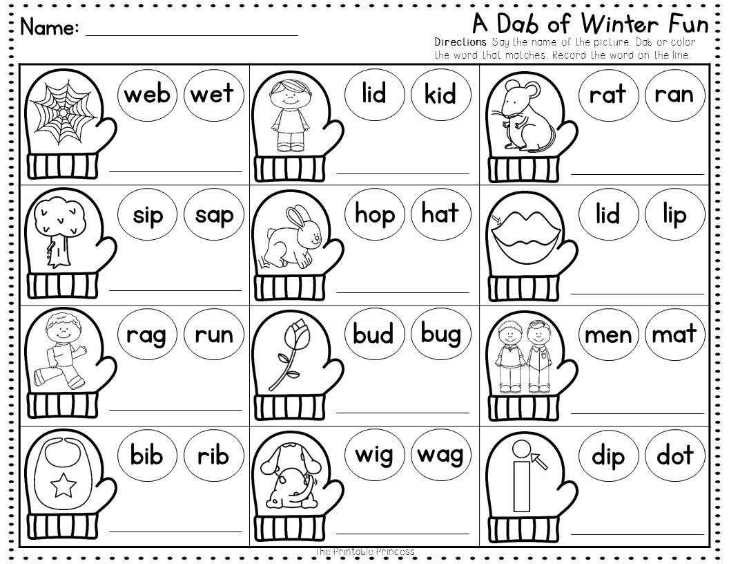 Winter No Prep Pages Literacy And Math Activities For