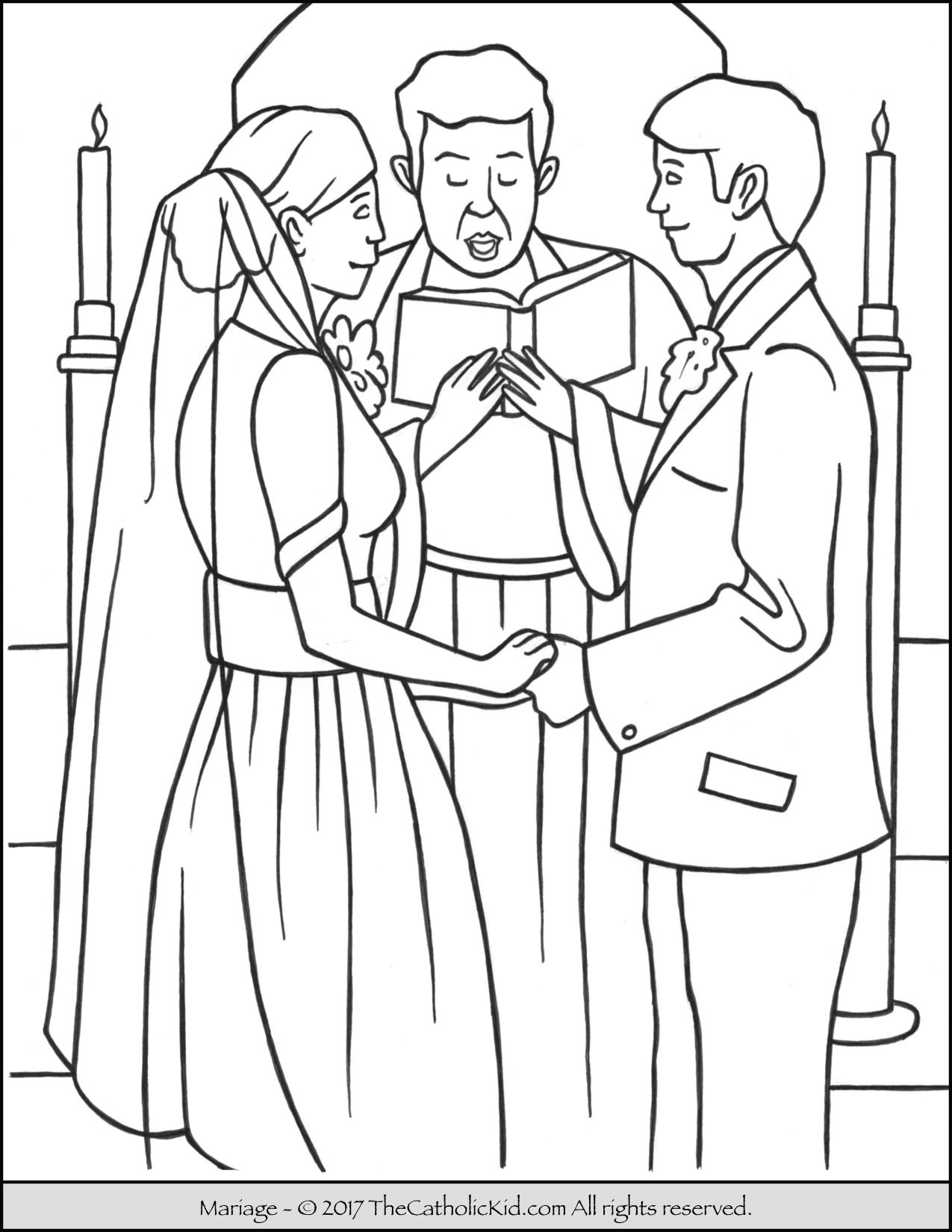Sacrament Marriage Coloring Page