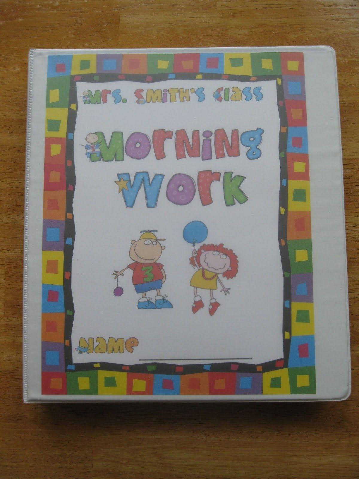 Morning Work Notebook