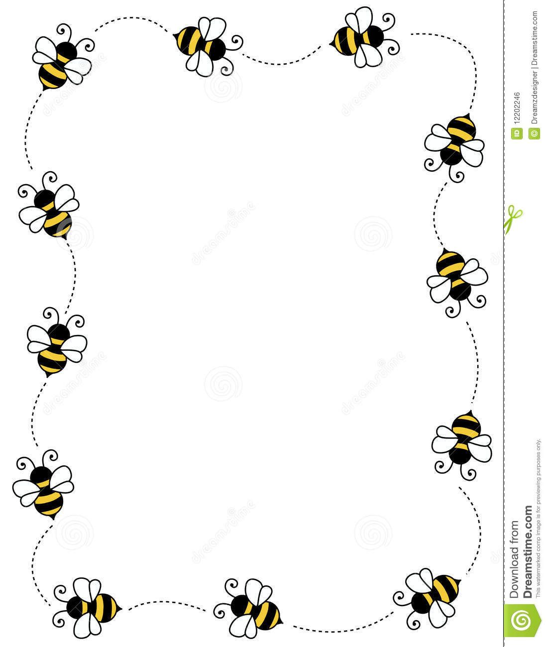 Clip Art Frames With Bumble Bees