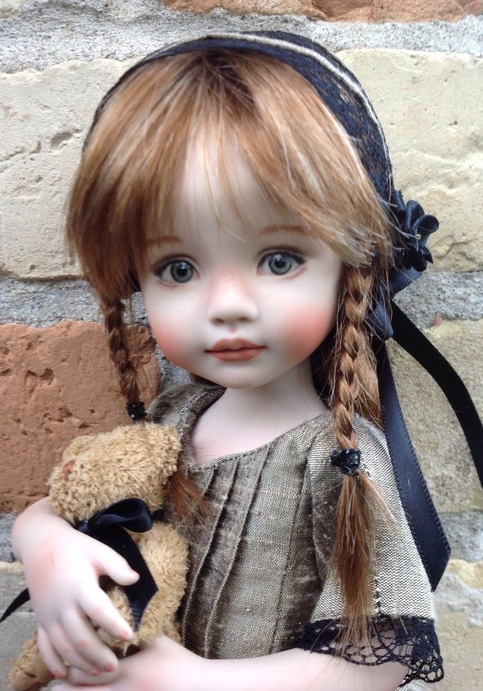 Allison, A 10 Porcelain Doll Made From a Mold By Dianna