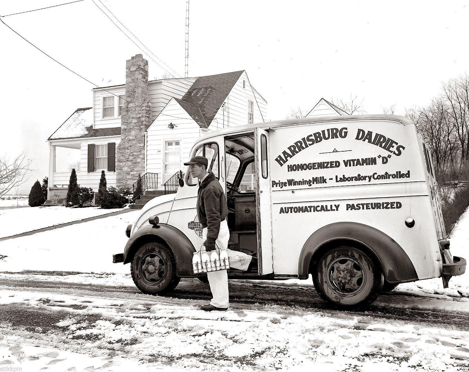 Photo Negative Divco Milk Truck Harrisburg Pa Dairies