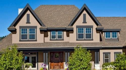 Exterior House Colors With Brown Roof Paint Home Designs Wallpapers