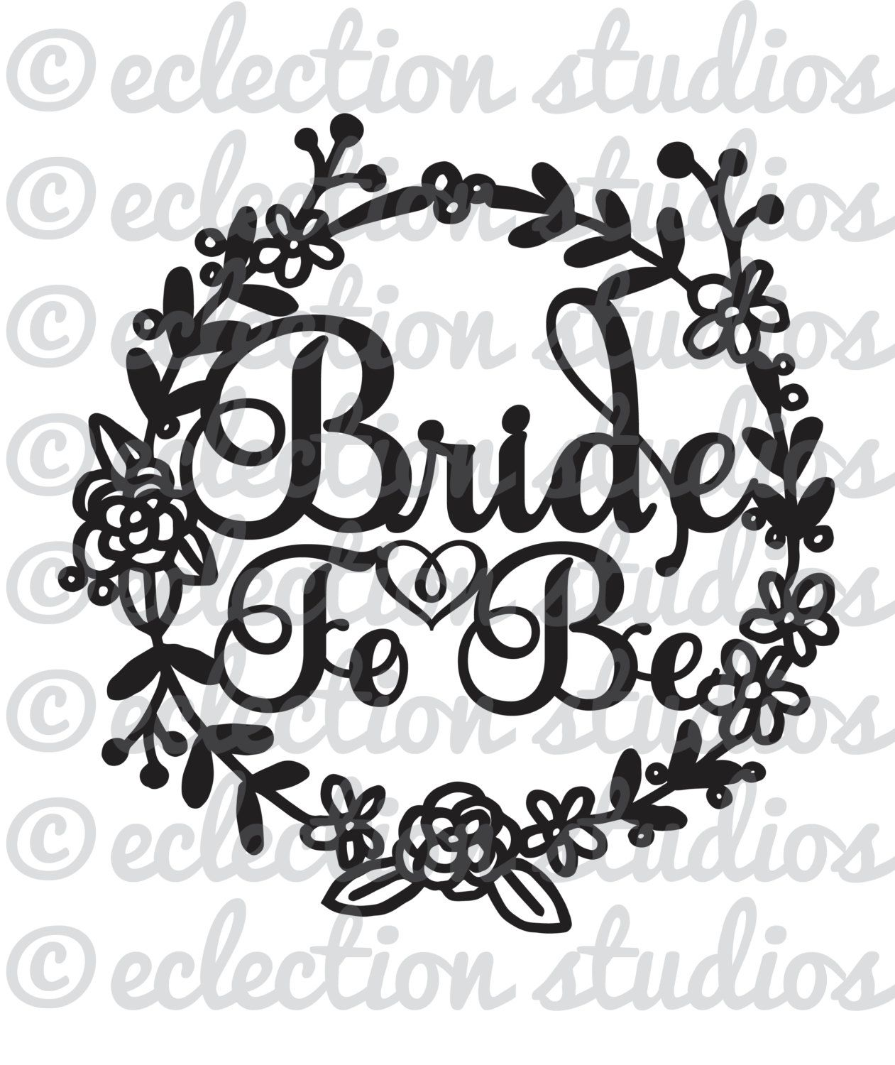 Bride To Be floral wreath wedding engagment by