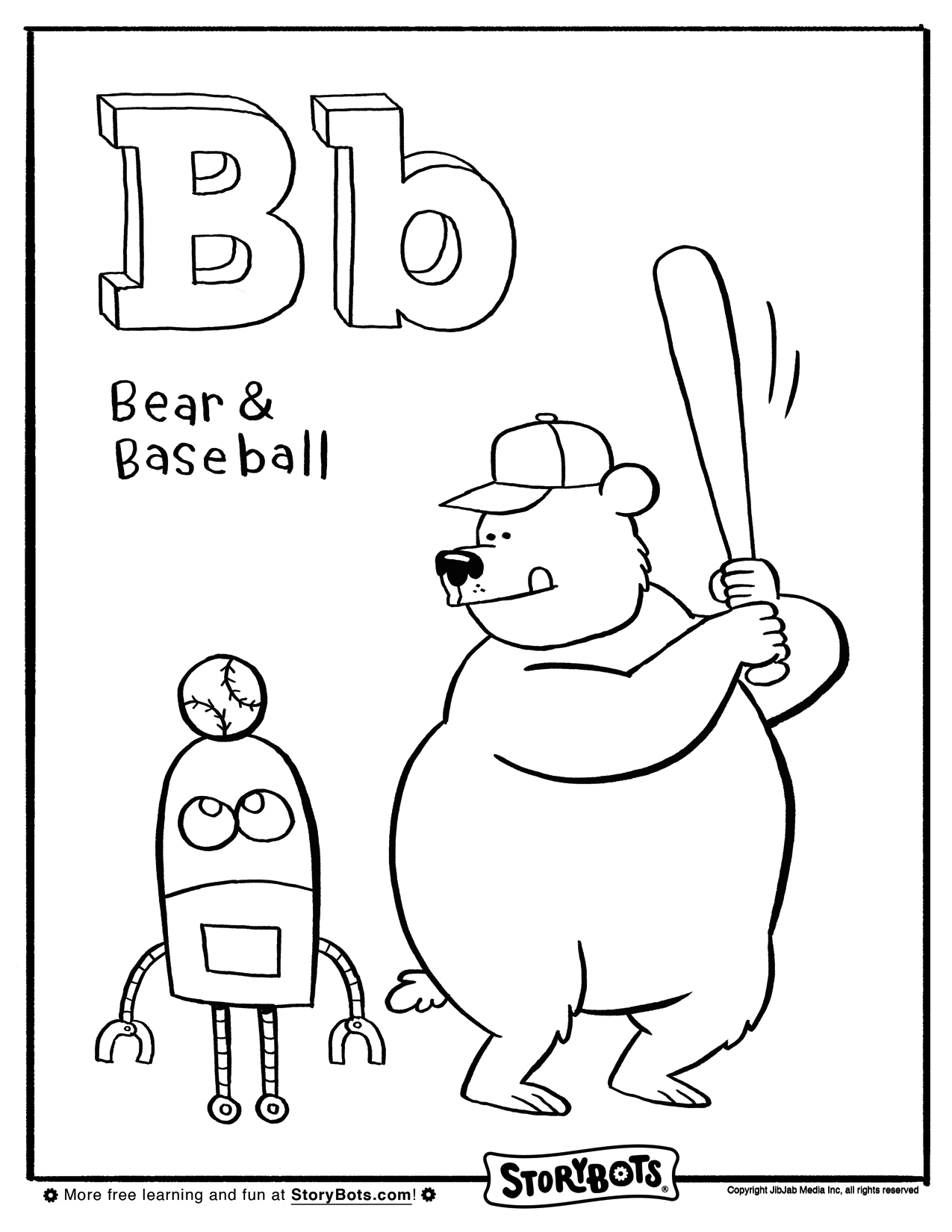 Letter B Coloring Sheet