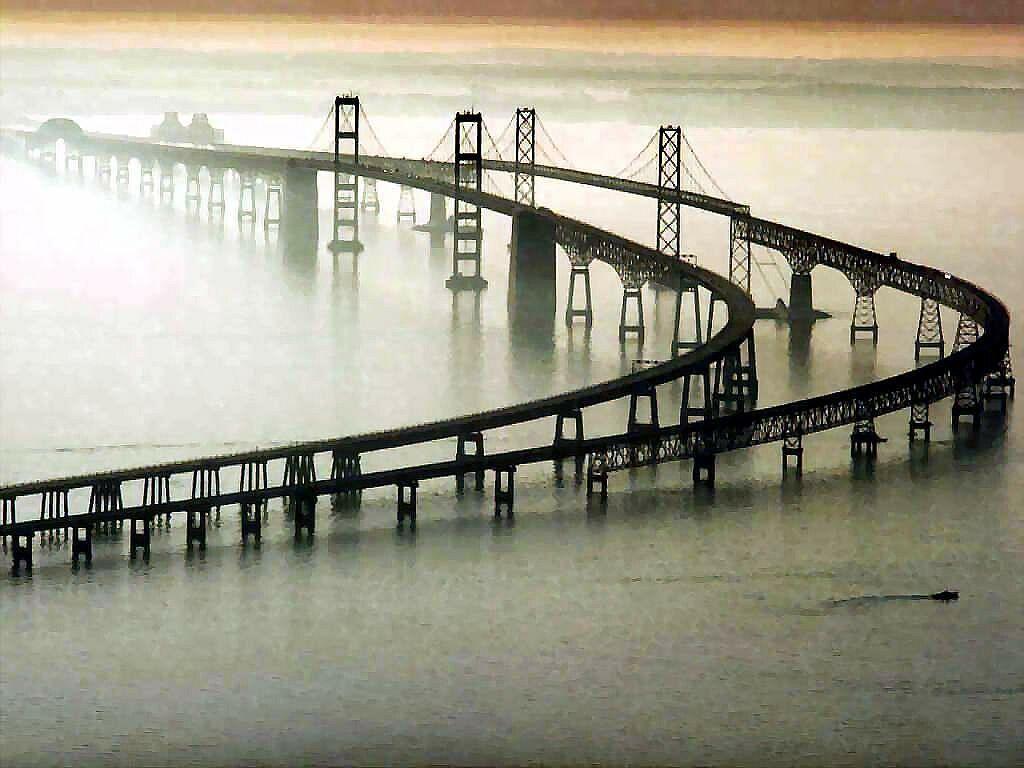 chesapeake bay bridge, virginia 17.6 mi, one of the world's