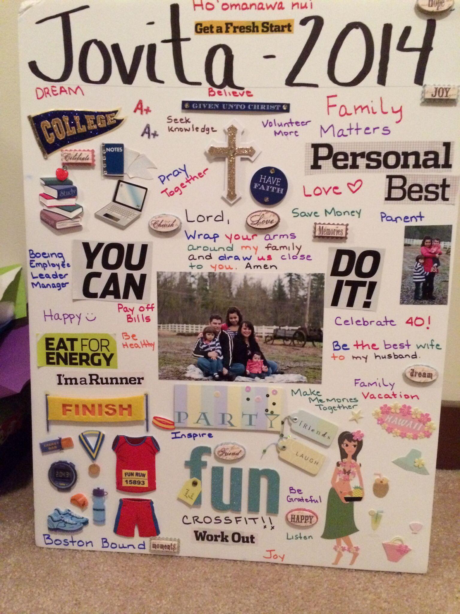 Jovita 2014 Vision Board Good Ideas Pinterest Board