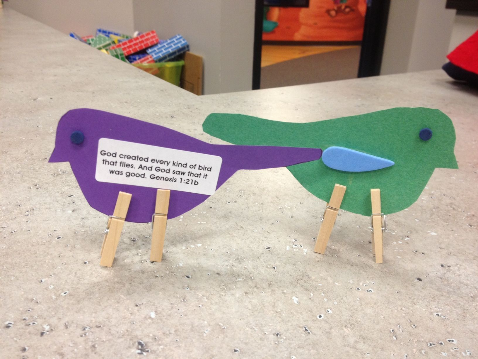 Preschool Toddler Craft For God Made The Birds
