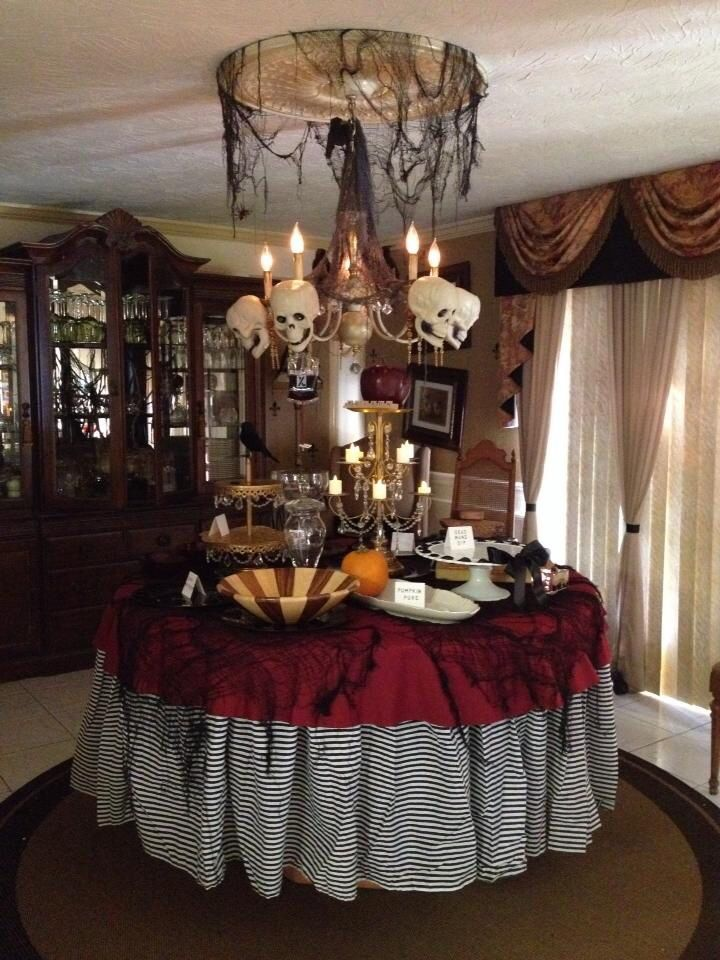 The Halloween party table! FALLOWEEN Pinterest