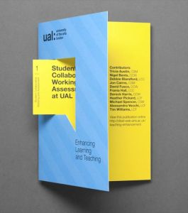 University of the Arts London     Designspiration   publicidades y     Brochure Idea   University of the Arts London print with die cut detail  designed by Alphabetical