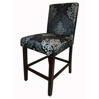 Better Living Orion Paisley Purple Upholstered 29 Inch Bar Stool