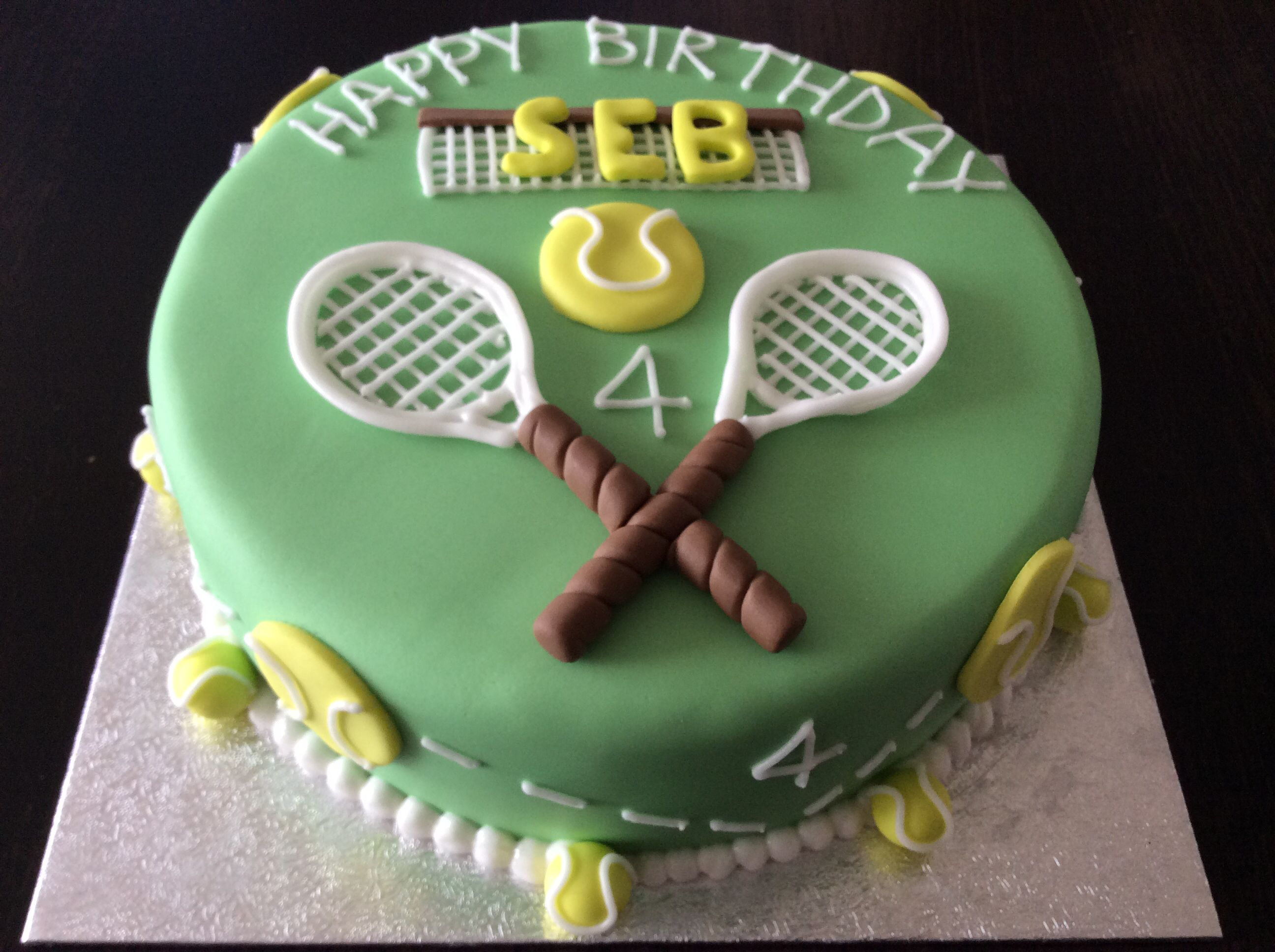 Tennis Themed Birthday Cake From Chitty S Cake Company In