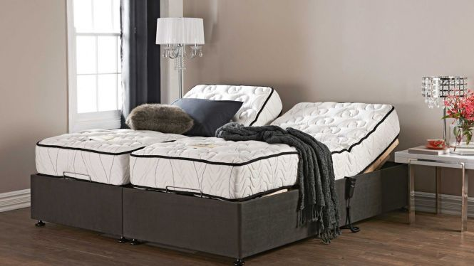 Mattress Split King Adjule Bed Frame With Nightstand