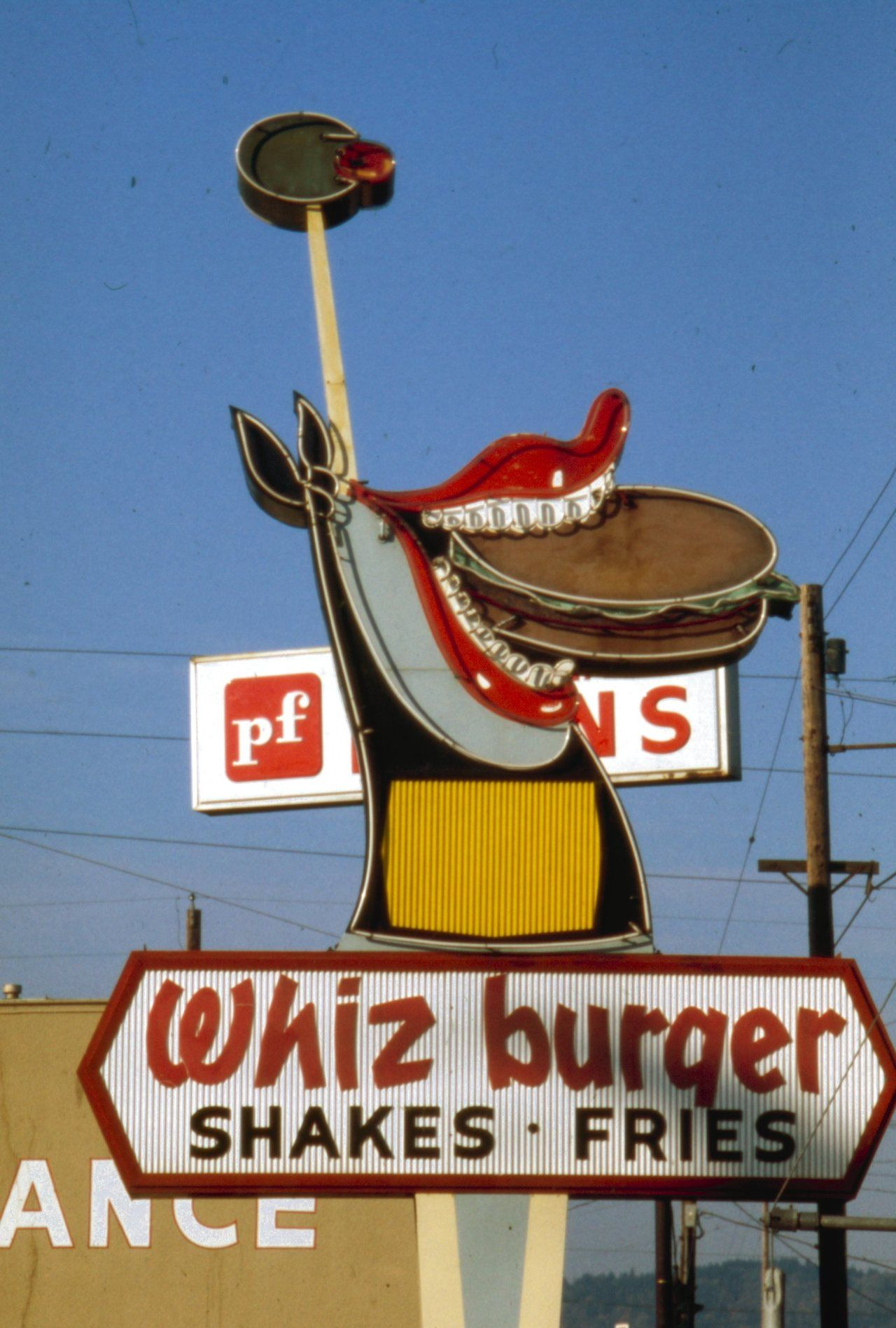 Whiz Burger signage, Portland November 1976 Marsh