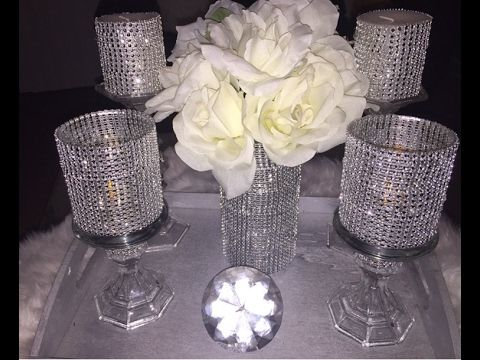 Dollar Tree DIY Bling Vase Amp CandlesHolders Bling Bling