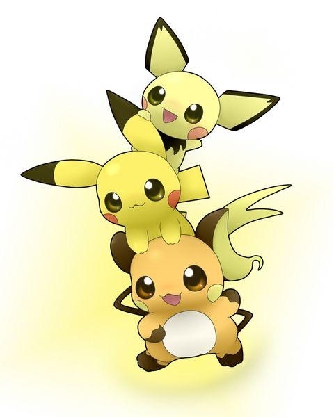 Raichu Cuties172 Pichu025 Pikachu026 Raichu