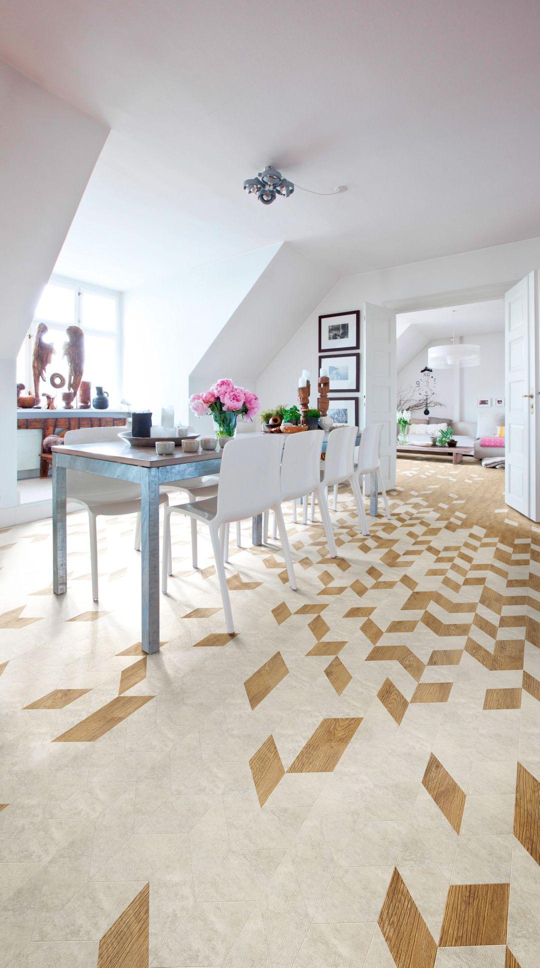 White Metalstone Camaro luxury vinyl tile flooring in