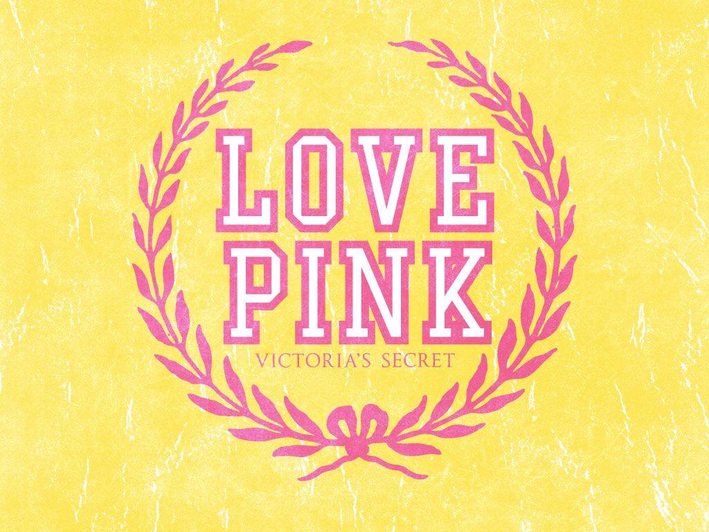 Wallpapers For > Love Pink Wallpaper DESIGNER LOGOS ADS