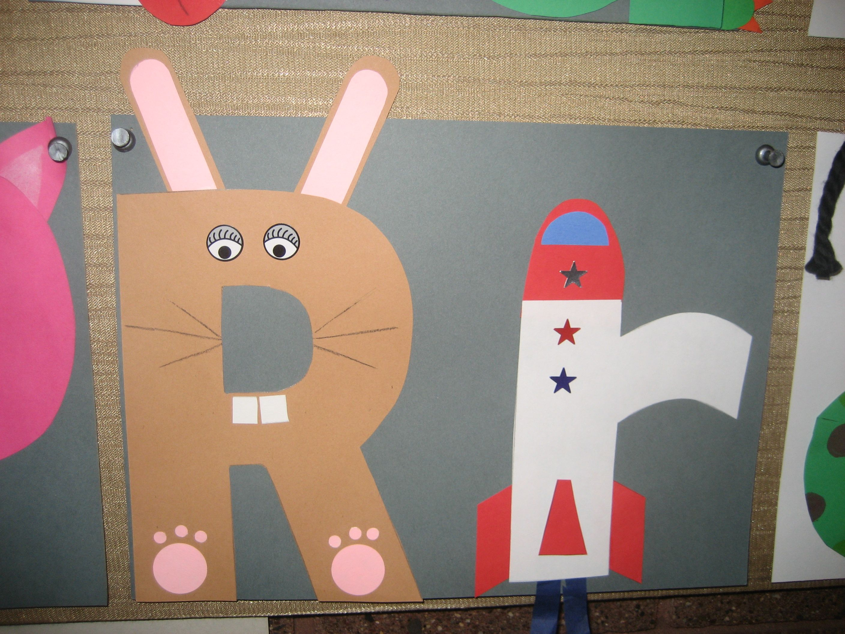 Rr Letter Of The Week Art Project Rabbit Amp Rocket