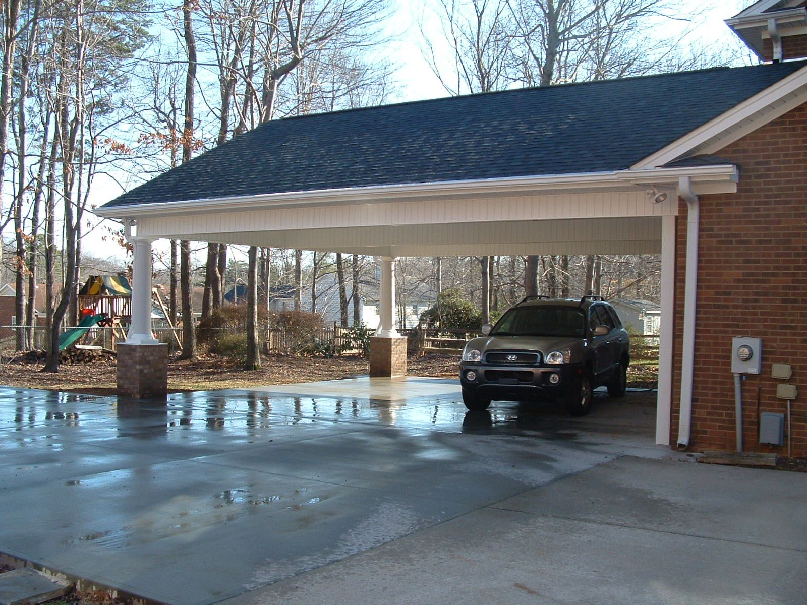 carport and screen porch additions White Addition Before