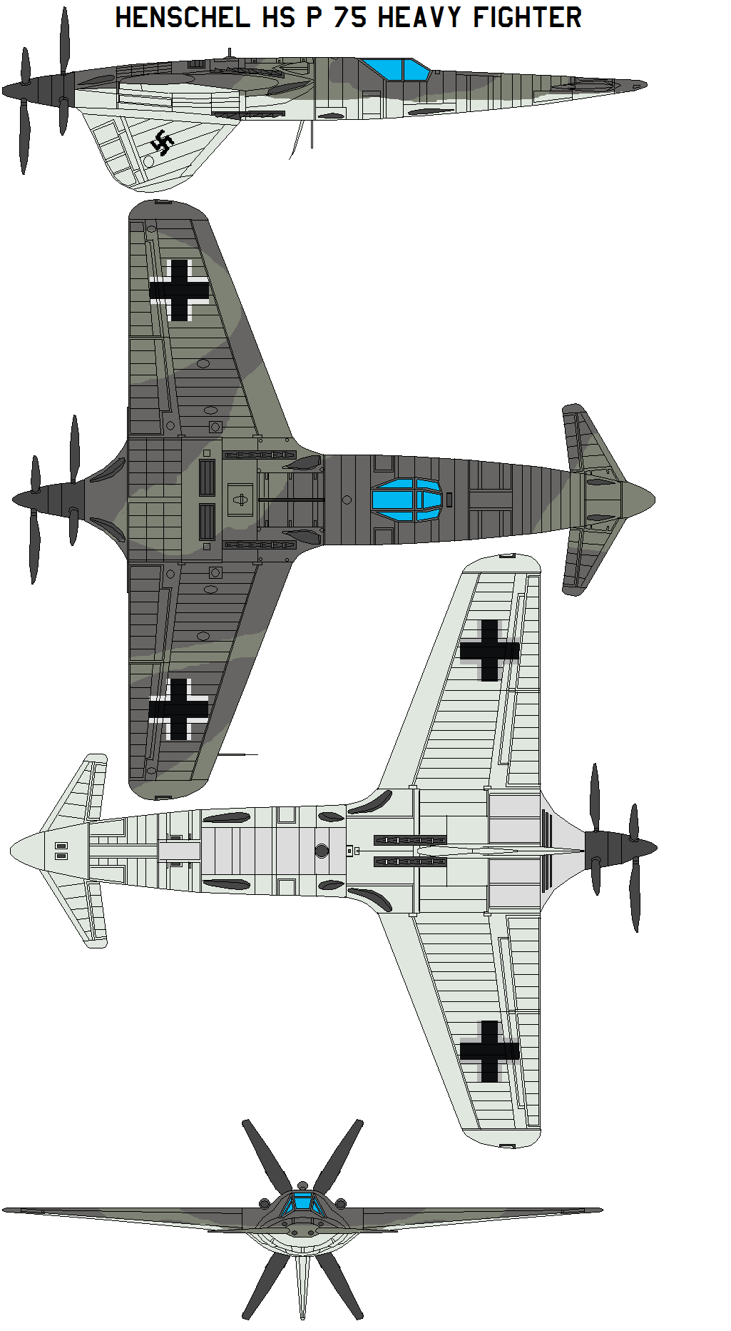 Henschel Hs P 75 Heavy Fighter By Bagera On Deviantart