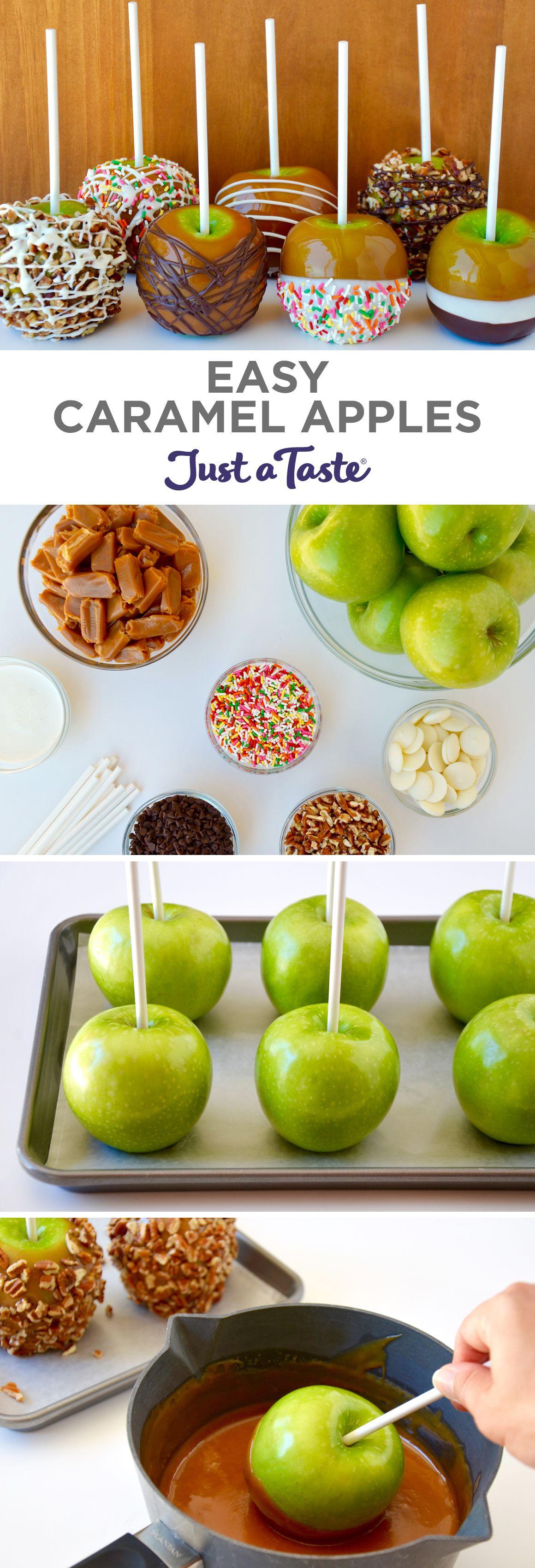 Easy Caramel Apples Recipe Caramel apples, Caramel and