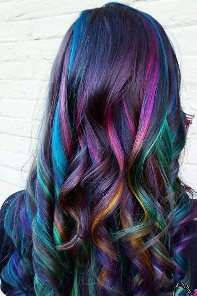 30 Rainbow Hair Looks For Brunettes Rainbow Hair