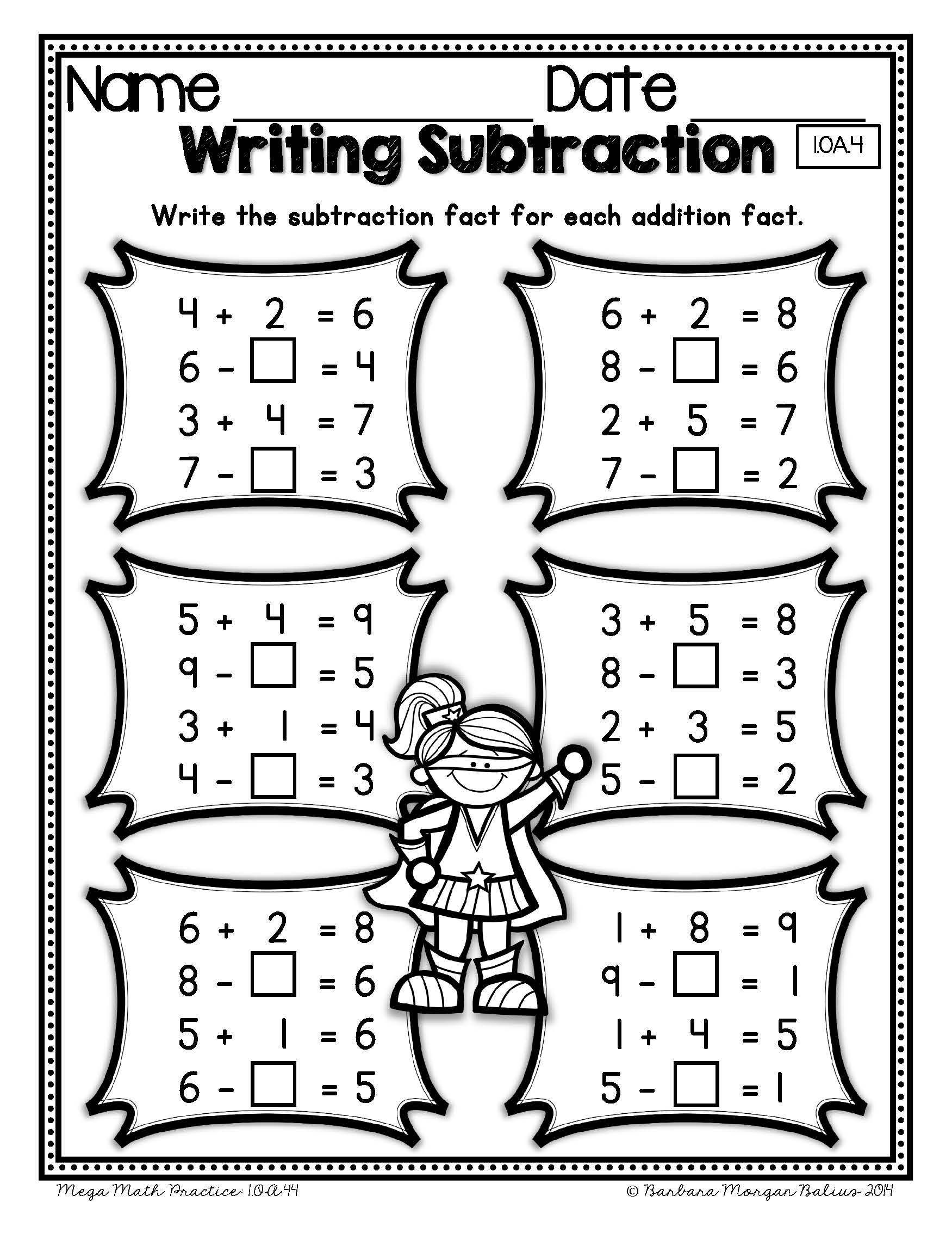 First Grade Math Properties Of Operations Mega Practice 1 Oa 4
