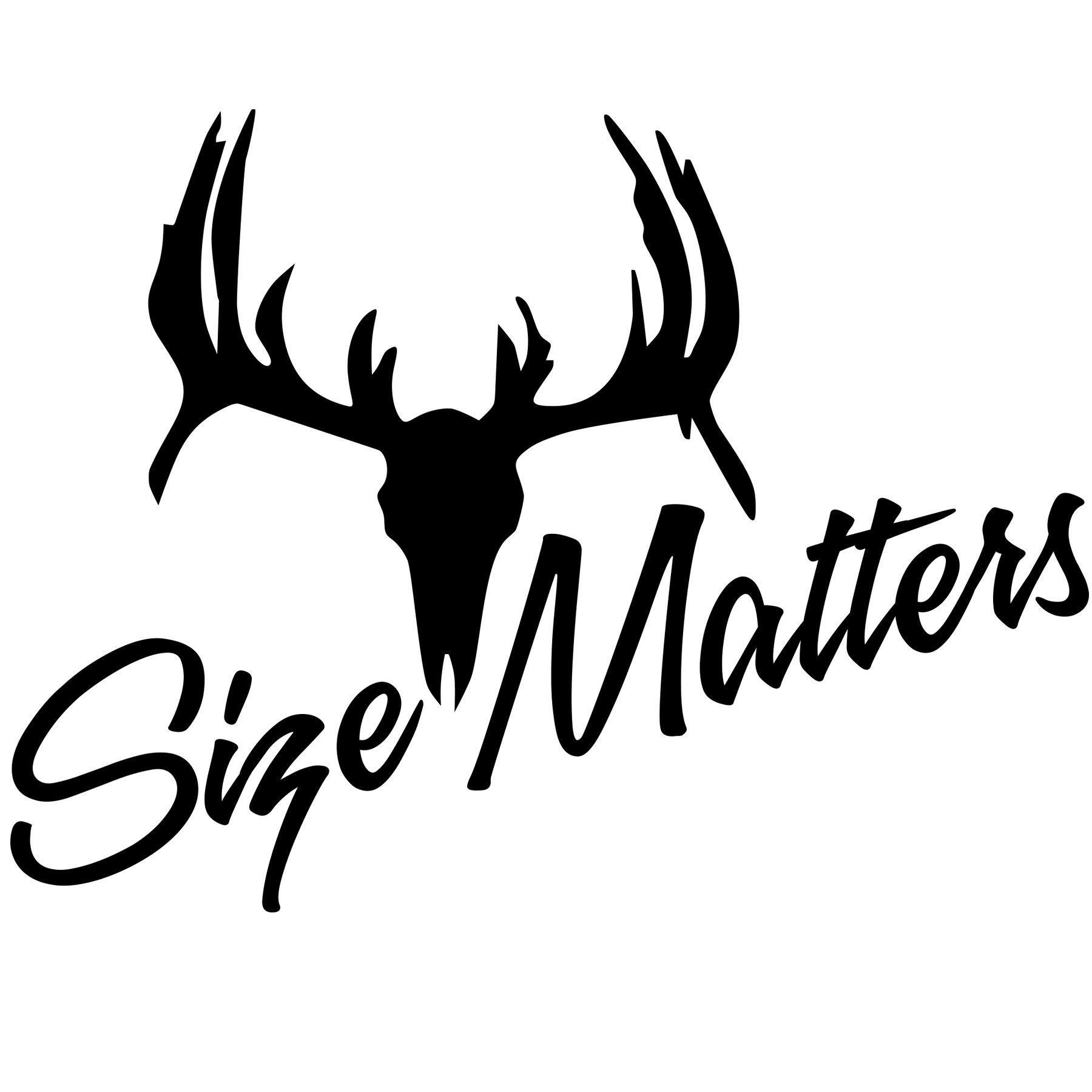 Size Matters Deer Skull Vinyl Sticker Deer skulls