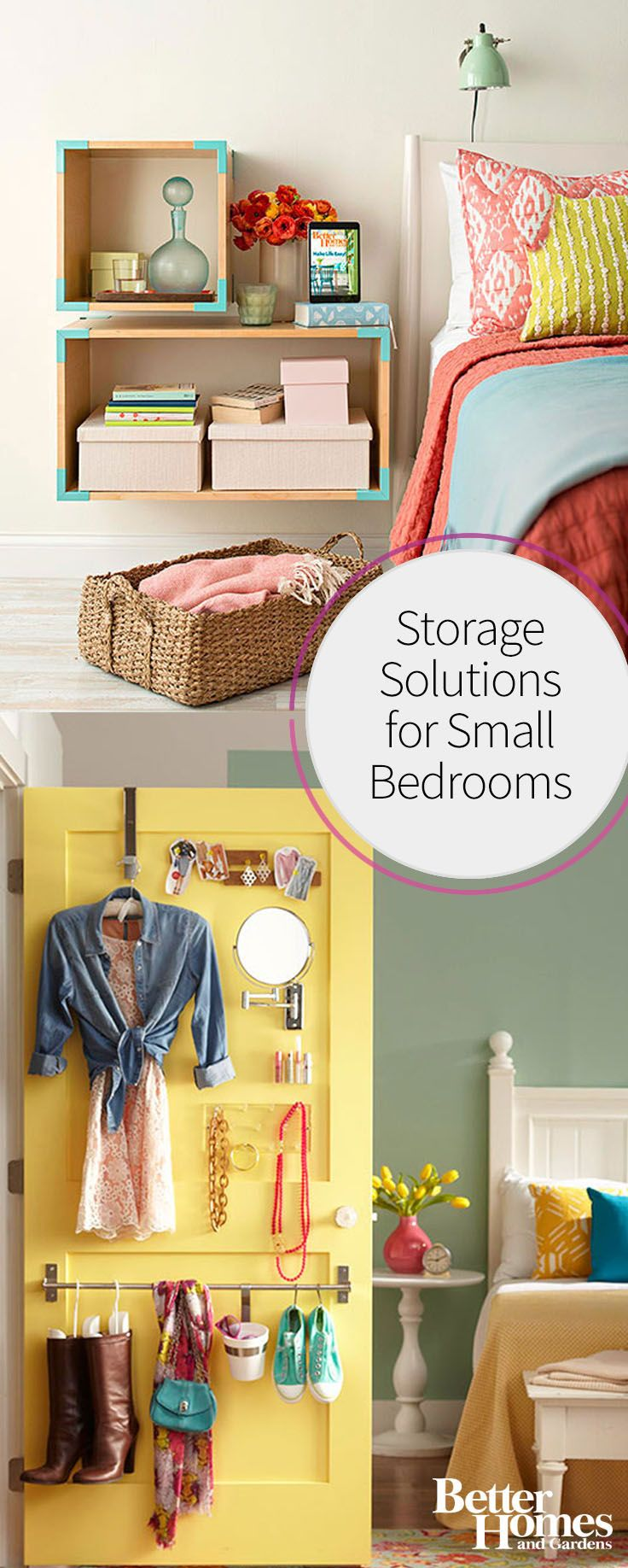 Storage Solutions for Small Bedrooms Tiny closet, Smart