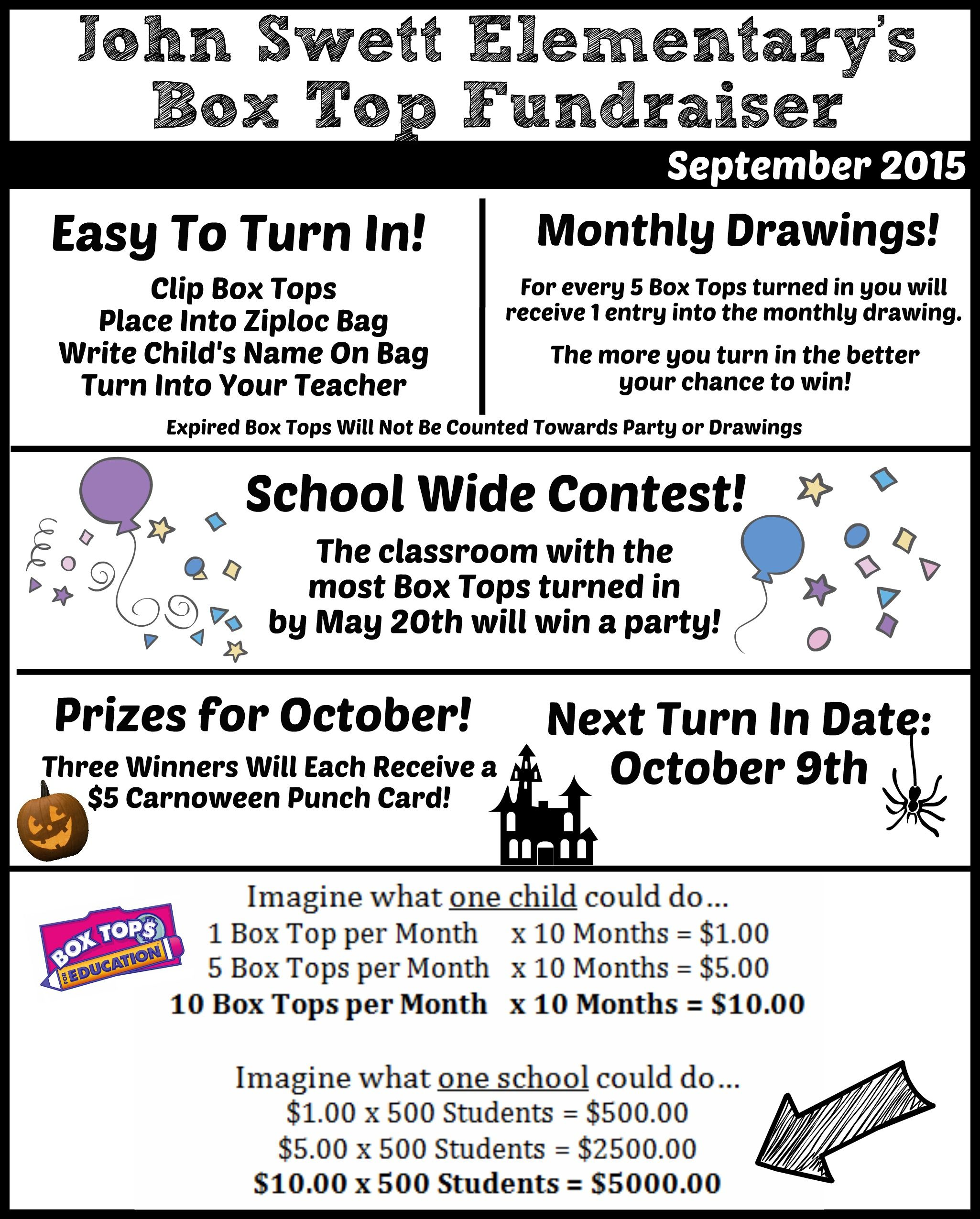 Box Tops For Education Parent Newsletter